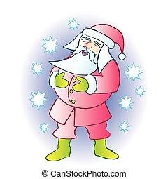 lachen, kerstman