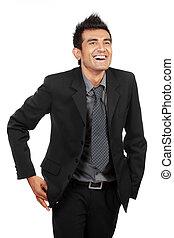 lachen, zakenmens