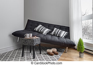 Lack of space in the living room - Lack of space. Sofa that...