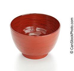 lackiert, schüssel, japanisches , suppe