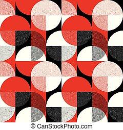 laconic, geometria, redondo, seamless, padrão