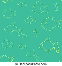 laconic, peixe, seamless