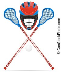 lacrosse, équipement, vecteur, illustration