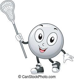 lacrosse balle, mascotte
