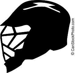 lacrosse, capacete