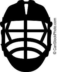 lacrosse, casco, frente