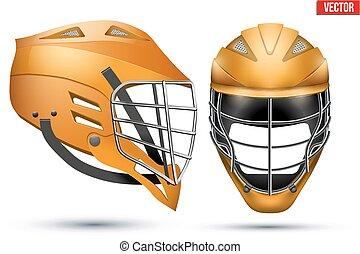 lacrosse, casque, ensemble