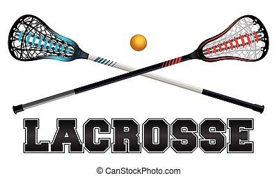 lacrosse, conception, illustration
