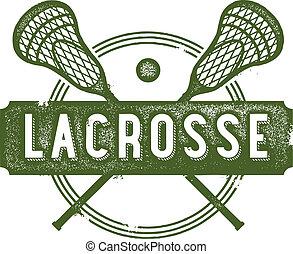 lacrosse, frimærke, sport