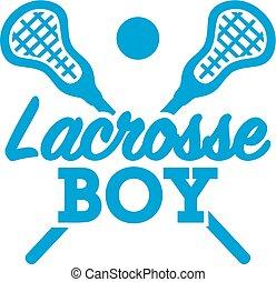 lacrosse, garçon