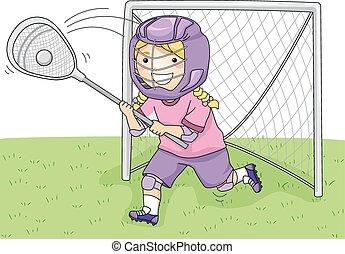 lacrosse, gardien de but