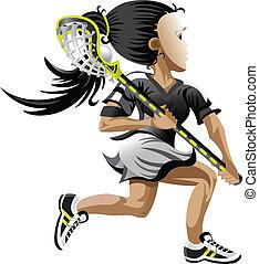 Lacrosse Girl - Girl playing lacrosse