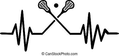 Lacrosse heartbeat line