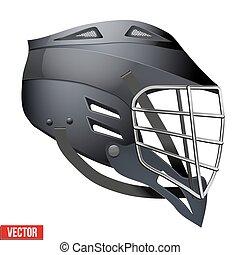 Lacrosse Helmet Side View - Black Lacrosse Helmet Side View....
