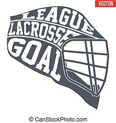 Lacrosse helmet with typography