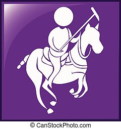 Lacrosse icon on purple background