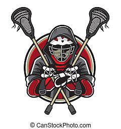 lacrosse, mascote