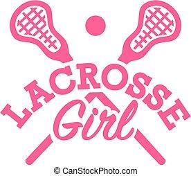 lacrosse, menina