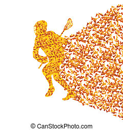 Lacrosse player vector background abstract concept made of...