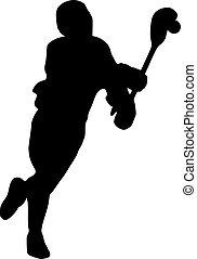 lacrosse, silueta