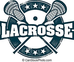 lacrosse, timbre, sport