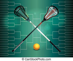 Lacrosse Tournament Illustration