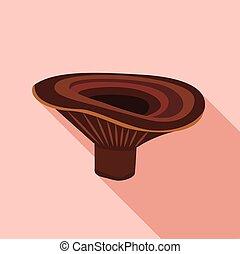 Lactarius deliciosus mushroom icon. Flat illustration of lactarius deliciosus mushroom vector icon for web