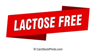 lactose free banner template. ribbon label sign. sticker