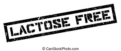 Lactose free rubber stamp