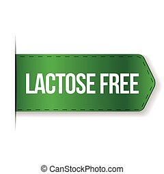 Lactose Free sign ribbon