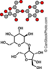 Lactulose chronic constipation drug (laxative), chemical structure.