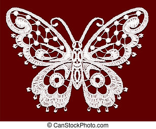 Lacy butterfly. Vector illustration.