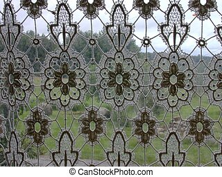 Lacy curtain - Lace curtain.