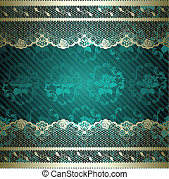 Lacy design on green background