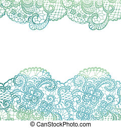 Lacy elegant border. Invitation card. Vector illustration.