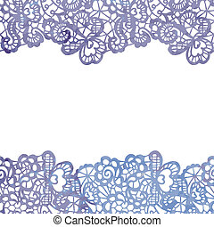 Lacy elegant border. Invitation card.