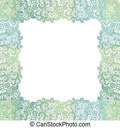 Lacy elegant frame. Invitation card