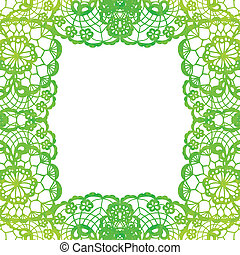 Lacy elegant frame. Invitation card.