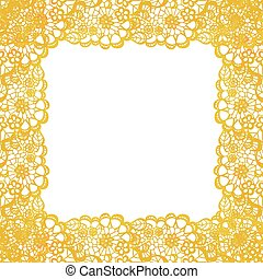 Lacy elegant frame. Invitation card