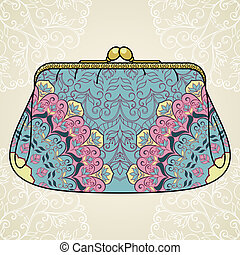 Lacy elegant purse. This is file of EPS10 format.