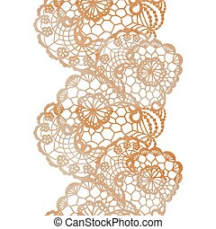 Lacy elegant watercolor border.