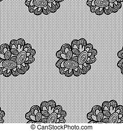 Lacy flower seamless pattern.