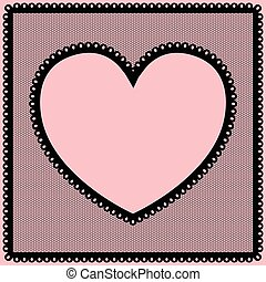 Lacy heart frame