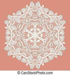 Lacy round napkin