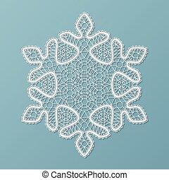 Lacy snowflake ornament