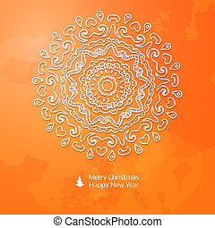 Lacy vector paper Christmas circular elements