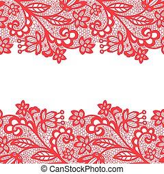 Lacy vintage trim. - Pink lacy vintage elegant trim. Vector...