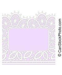 lacy wedding invitation border