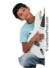 lad  playing instrument