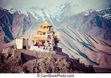 ladakh, en, indio, himalaya, himachal, pradesh, india